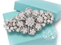 barrette hair clip wedding hair clip rhinestone clear hair clip bridal hair