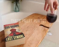 Bathtub Wine And Book Holder Rustic Wood Bathtub Tray Walnut Bath Tub Caddy Wooden