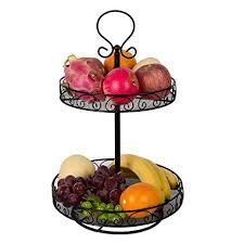 metal fruit basket vanra rotatable fruit basket countertop fruit stand