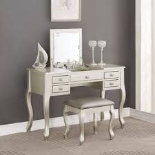 Silver Bedroom Vanity Silver Bedroom U0026 Makeup Vanities You U0027ll Love Wayfair