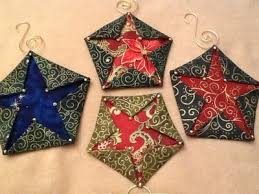 folded fabric pentagon ornament step by step