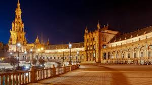photos spain town square seville spanish square maria 3840x2160