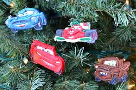 disney cars ornaments made with salt dough in lieu of preschool