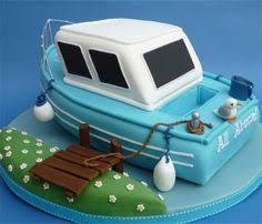 fishing boat birthday cake cakes pinterest boat cake