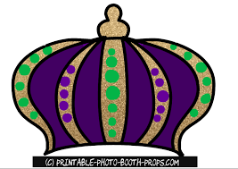 mardi gras crown free printable mardi gras photo booth props