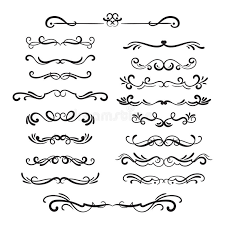 flourishes vintage ornamental borders and dividers filigree