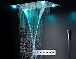 Ceiling Mounted Rain Shower by Ceiling Mounted Led Rain Showers Heads Bathroom Water Saving