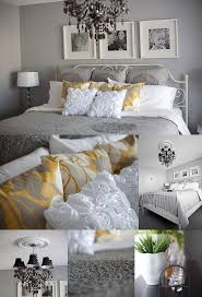 Gold And Silver Bedroom by Bedding Set Yellow Grey And White Bedroom Ideas Wonderful Yellow
