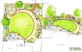 garden interesting beautiful garden plan outstanding green round