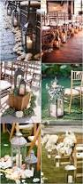 rustic lantern wedding aisle decor ideas deer pearl flowers