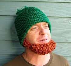 st patrick u0027s day beard beanie hat yes