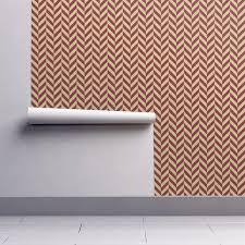 Herringbone Line Wallpaper Beige Peel by Garnet And Gold Herringbone Wallpaper Seachelle Spoonflower