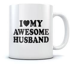 i love my awesome husband romantic fathers day gift tea coffee mug
