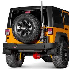 jeep rear bumper with tire carrier arb jeep wrangler 2008 2017 full width rear hd bumper with tire