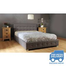 nicole king size gas lift fabric bed frame in grey buy gas lift