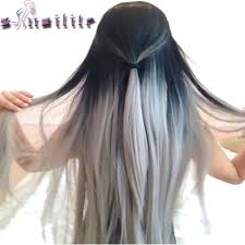 Aliexpress Com Hair Extensions by Online Buy Wholesale Black Dip Dye Extensions Synthetic From China