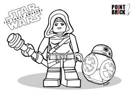disegni da colorare lego star wars force awakens rey bb