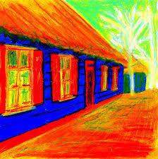 the fauvism project oil pastel sketches on student show