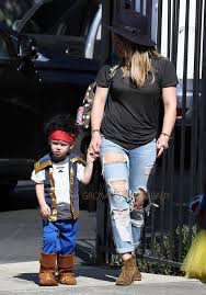 Church Halloween Costumes Hilary Duff Son Luca Comrie Dressed Pirate