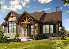modern craftsman house plans modern craftsman with optional finished lower level 22471dr
