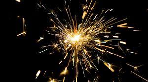 Sparklers Sparks Of Sparklers Abstract Sparks Lights On Black Background
