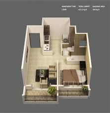 one bedroom apartment plan 50 one 1 bedroom apartmenthouse plans 9 model pinterest