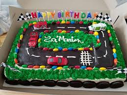 car cake hotwheels styled race car 5th birthday cake birthday cakes