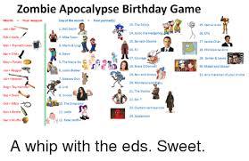 Zombie Birthday Meme - 25 best memes about zombie apocalypse birthday game zombie