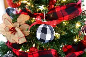 diy buffalo check plaid ornaments weekend craft