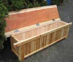 Simple Storage Bench Plans by Bedroom Excellent Outdoor Wood Storage Bench Treenovation