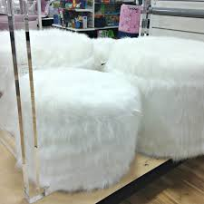 sofa slipcover diy ottomans faux fur couch cover faux fur chair slipcover white