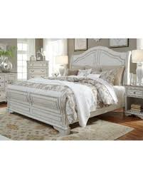 Wood Sleigh Bed Holiday Sale Liberty Magnolia Home Antique White Sleigh Bed
