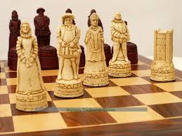berkeley chess history themed ornamental chess set