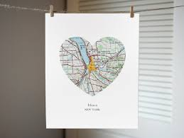 Ithaca New York Map by Ithaca New York Heart Map Print New York Art Ithaca Map