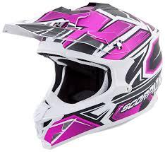 pink motocross helmet scorpion vx 35 finnex helmet revzilla