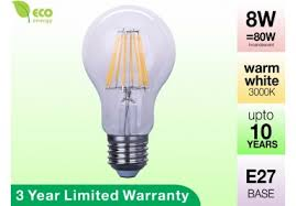 eco friendly glass filament led bulbs for sale 40 discount