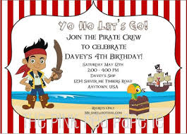 free jake neverland pirates birthday invitations