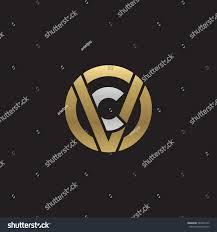 cv v vc initial letter logo vc cv c stock vector 589402145