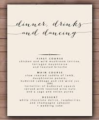 wedding menu templates 29 dinner menu templates free sle exle format