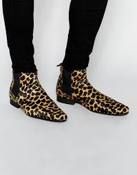 ugg boots sale asos image 1 of asos chelsea boots in leopard cause every s