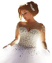 wedding dress with beading scellebridal gorgeous 2016 pearls beading sleeves