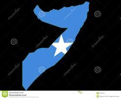 Map Of Somalia Map Of Somalia And Somali Flag Royalty Free Stock Images Image
