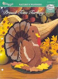 turkey door banner centerpiece thanksgiving plastic canvas pattern