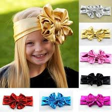 big bows for hair 2015 hot sales baby girl cotton wrap gold big bows headbands