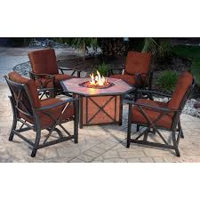 Agio Patio Furniture Costco - amazon com agio haywood5pcfp 5 piece haywood lounge set patio