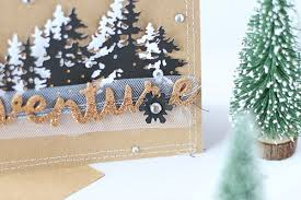 a card with a tree line die daily inspiration from