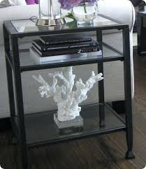 metal and glass end tables metal glass bedside table herrade info