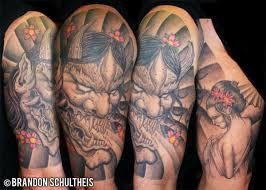 hannya mask tattoo by bjsxiii on deviantart