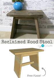 remodelaholic 9 cool wood projects november link party reclaimed wood stool plans my love 2 create