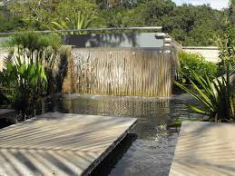 landscape water features result for concrete water wall backyard